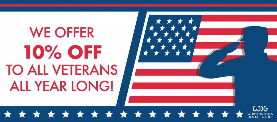Flag with 10% off for all Veterans